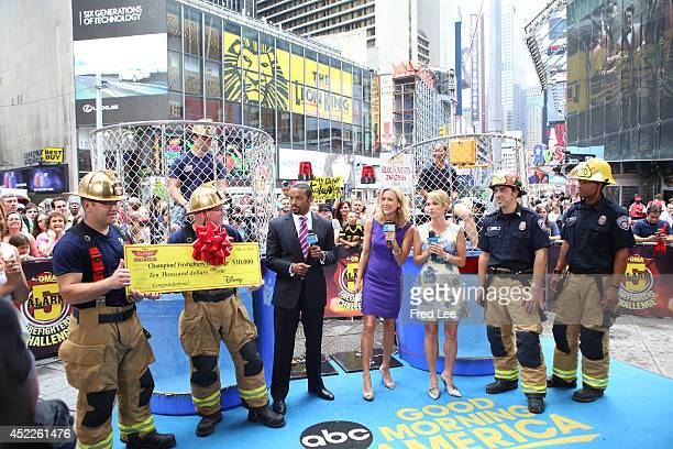 AMERICA The 5Alarm Firefighter's Challenge takes place on 'Good Morning America' 7/16/14 airing on the ABC Television Network FIREMEN RYAN