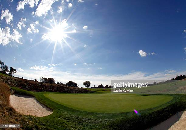 The 5th green is seen during the 2016 US Open Media Day at Oakmont Country Club on September 21 2015 in Oakmont Pennsylvania