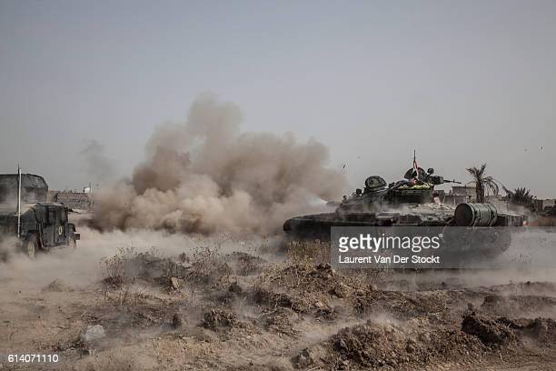 FALLUJAH IRAQ The 5th of JUNE 2016'n10 air strikes a day can be requested to the coalition forces to help the progression after two tanks were...
