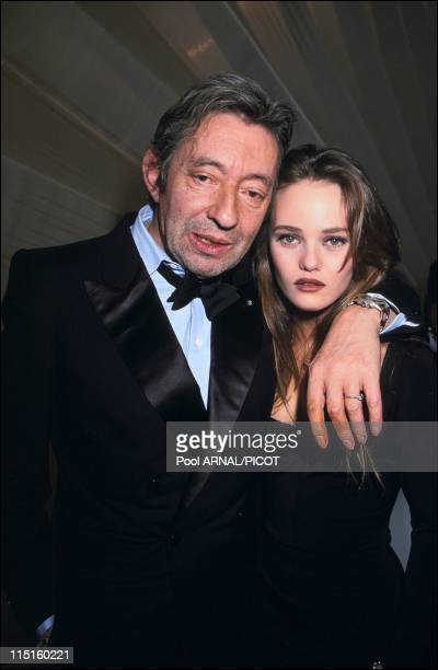 The 5th 'Victoires de la musique' awards ceremony in Paris France in March 1990 Serge Gainsbourg and Vanessa Paradis Artistic Female Vocalist of the...