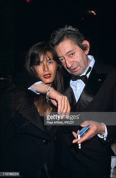 The 5th Victoires de la musique awards ceremony in Paris France in March 1990 Serge Gainsbourg and Bambou