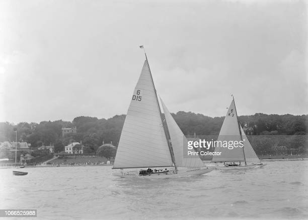 The 6 Metre Class yachts 'OuiOui' and 'Gairney' racing 1922 'Oui Oui' was designed by the Danish yacht designer Johan Anker