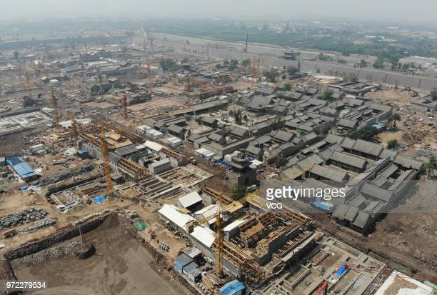 The 600yearold ancient county seat of Taiyuan which was established in 1375 during the Ming Dynasty is undergoing a restoration work on June 11 2018...