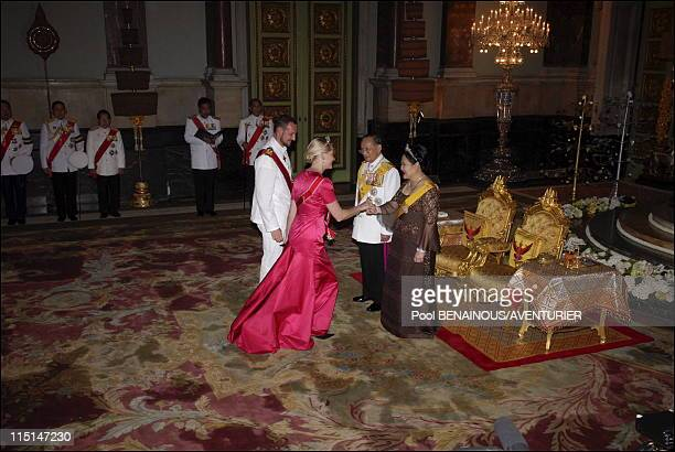 The 60th anniversary celebrations of King Bhumibol in Bangkok Thailand on June 13 2006 Royal banquet in honor of the foreign monarchs Princess Mette...
