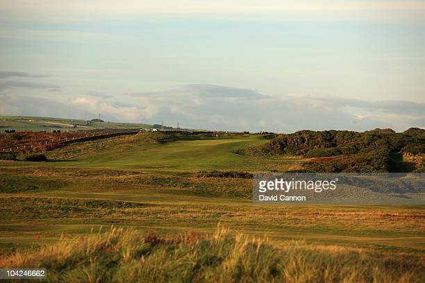 The 611 yards par 5, 5th hole at The Royal Porthcawl Golf Club on September 17, 2010 in Porthcawl, Mid Glamorgan, Wales.