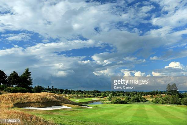 The 618 yards par 5, 9th hole 'Crook O'Moss' on The PGA Centenary Course at The Gleneagles Hotel Golf Resort which will be the host venue for the...