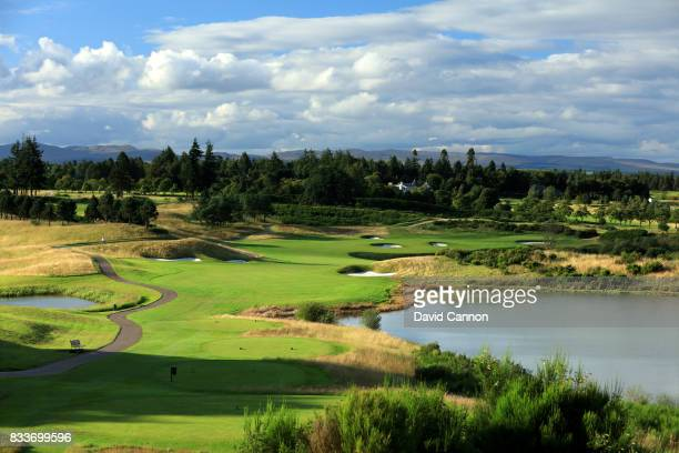 The 618 yards par 5 ninth hole on the PGA Centenary Course at The Gleneagles Hotel on August 7 2017 in Auchterarder Scotland