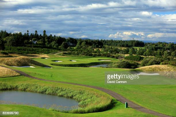 The 618 yards par 5, ninth hole on the PGA Centenary Course at The Gleneagles Hotel on August 7, 2017 in Auchterarder, Scotland.