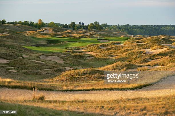 The 619 yard par 5 11th hole 'Sand Box' on the Straits Course at Whistling Straits on September 17 2005 in Kohler Wisconsin United States