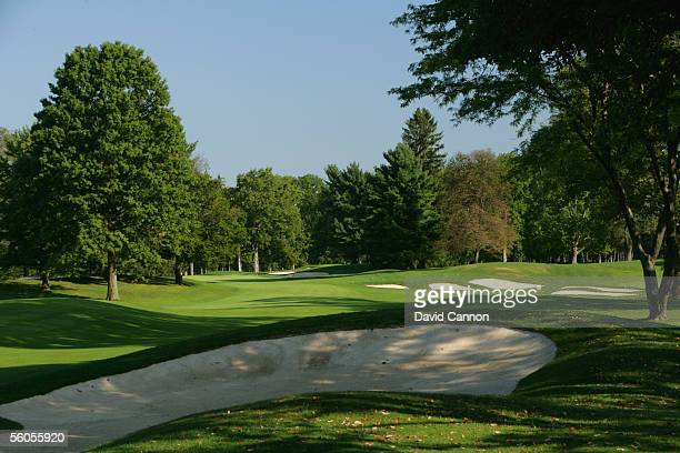 The 630 yard par 5, 12th hole on the West Course at Winged Foot Golf Club venue for the 2006 US Open, on September 19, 2005 in Mamaroneck, New York,...
