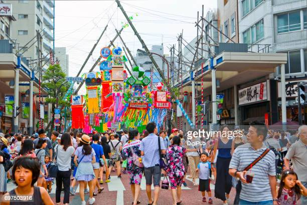 the 66th shonan hiratsuka tanabata festival - tanabata festival stock pictures, royalty-free photos & images