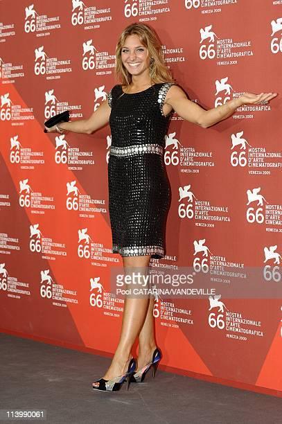 The 66th Venice International Film Festival. Photocall of 'Armando Testa_Povero Ma Moderno' in Venice, Italy On September 05, 2009-Director Lucilla...