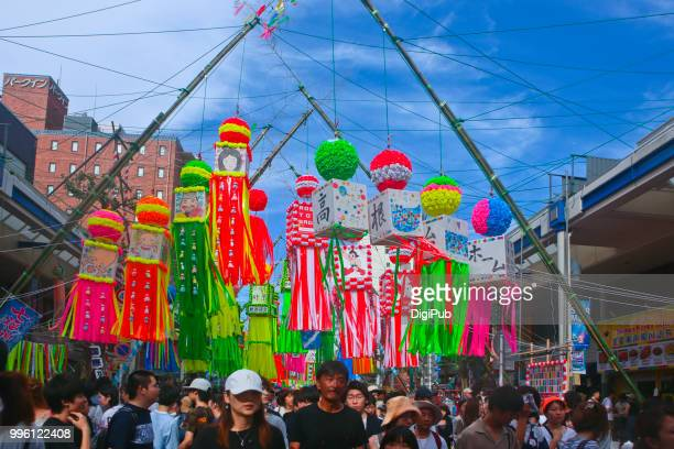 the 68th shonan hiratsuka tanabata matsuri (star festival 2018) - tanabata festival stock pictures, royalty-free photos & images