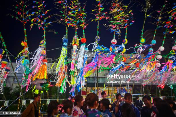 the 69th shonan hiratsuka star festival - tanabata festival stock pictures, royalty-free photos & images