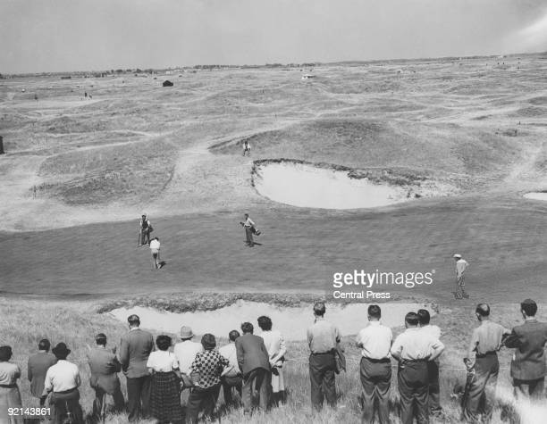 The 6th green at the Royal St George's Golf Club in Sandwich Kent during the Open Golf Championship July 1949