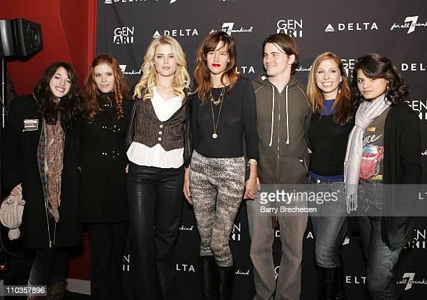 The 7 fresh faces in film Paz de la huerta Melonie Diaz Kate Mara Jason Ritter Shoshannah Stern Rachael Taylor and Olivia Thirlby attend the Gen Art...