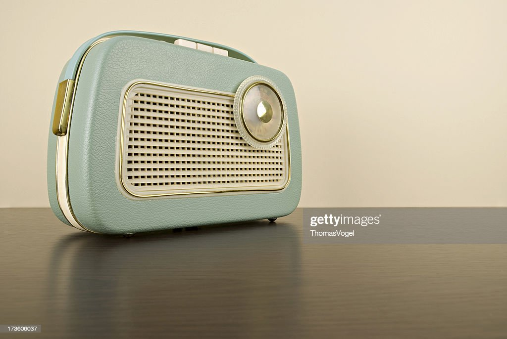 The 70s. retro boom box : Stock Photo