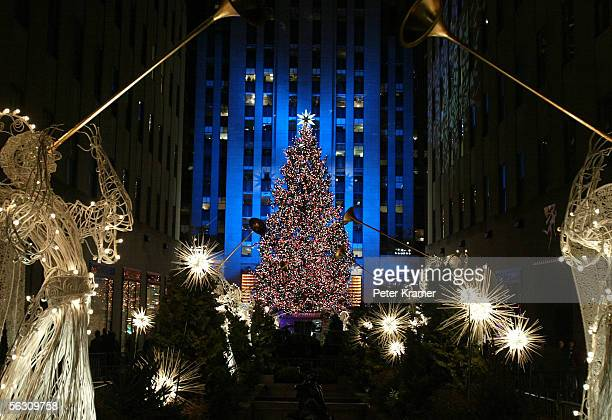 The 73rd annual Rockefeller Center tree lighting ceremony takes place November 30 2005 in New York City