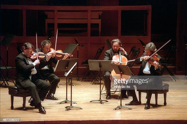 """""""The 75th Anniversary of the Walter W. Naumburg Foundation"""" at Alice Tully Hall on Thursday night, December 13, 2001.This image:The Emerson String..."""