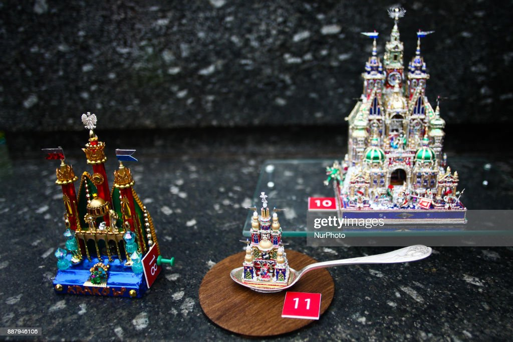 The 75th Nativity Scene Contest takes place at the Main Square on 7 December 2017, in Krakow, Poland. Tradition dates back to 1937, when the 1st Nativity Scene Competition was held. Ever since, aside from a short break during the Second World War, on the first Thursday of December, nativity scene-makers of all ages, amateurs and professional artists, gather at the foot of the Adam Mickiewicz monument at the Main Square to present their latest handmade creations.