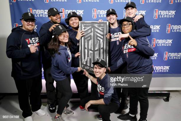 The 76ers Gaming Club poses for a photo during the NBA 2K League Tip Off Tournament on May 5 2018 at Brooklyn Studios in Long Island City New York...