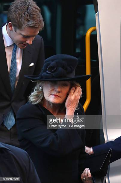 The 7th Duke of Westminster Hugh Grosvenor and his mother Natalia Grosvenor Duchess of Westminster arriving for a memorial service to celebrate the...