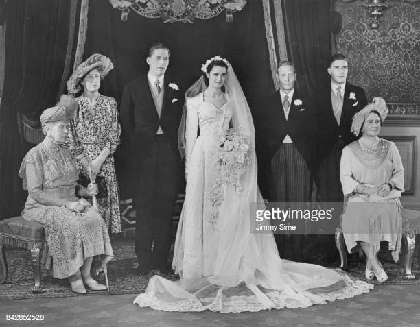 The 7th Earl of Harewood and pianist Marion Stein now the Countess of Harewood at St James' Palace in London during their wedding reception 29th...