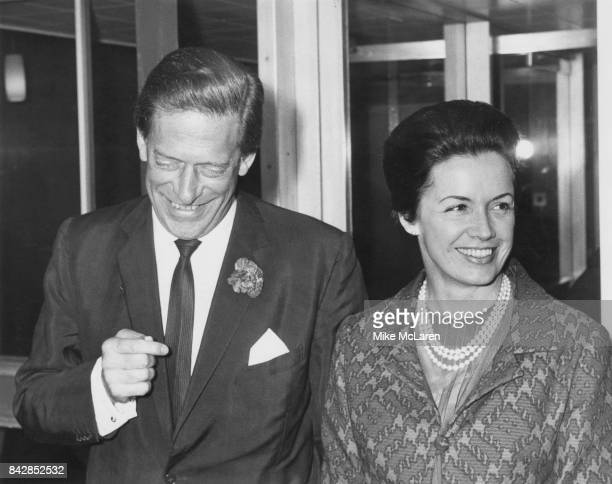 The 7th Earl of Harewood arrives at Heathrow Airport, London, after his wedding to Patricia Tuckwell, now the Countess of Harewood, aka former model...