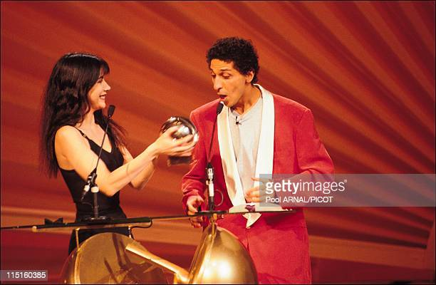 The 7th evening of the Victoires de la musique in Paris France in January 1992 Carole Laure Smain Comedian of the Year