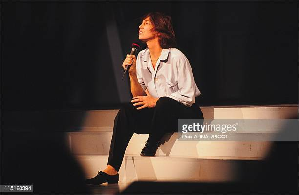 The 7th evening of the 'Victoires de la musique' in Paris France in January 1992 Jane Birkin Artist Female Vocalist of the Year