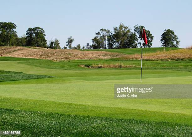 The 7th green is seen during the 2016 US Open Media Day at Oakmont Country Club on September 21 2015 in Oakmont Pennsylvania
