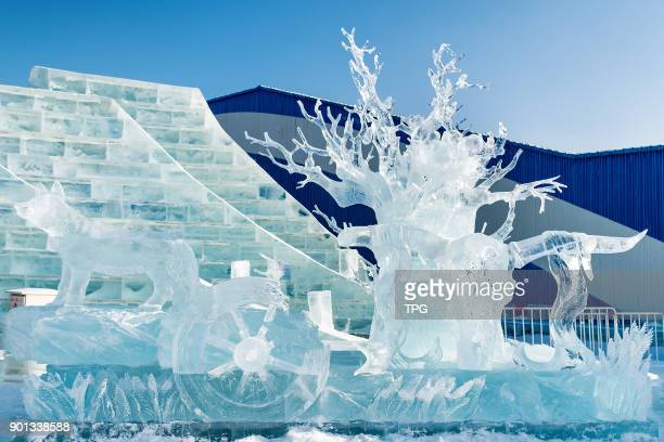 The 7th Harbin international icesculpture contest hold at Harbin IceSnow Wolrd and the team from amursk won the first prize on 04th January 2018 in...