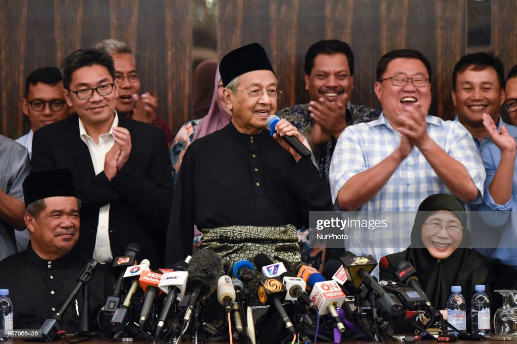 Malaysia's the 7th Prime Minister, Mahathir Mohamad During A Press Conference : News Photo