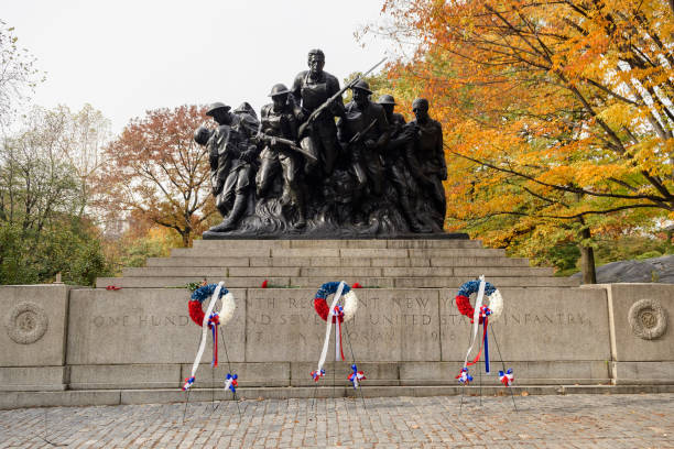 The 7th Regiment New York of the 107th US Infantry Memorial, Central Park, New York City