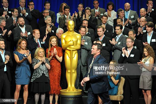The 83rd Academy Awards class photo at the 83rd Academy Awards nominations luncheon held at the Beverly Hilton Hotel on February 7 2011 in Beverly...