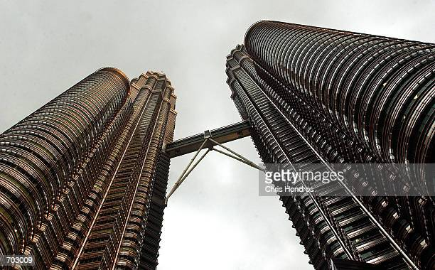 The 88-story Petronas Twin Towers, the tallest buildings in the world, soar March 12, 2002 in downtown Kuala Lumpur, Malaysia. The gleaming...