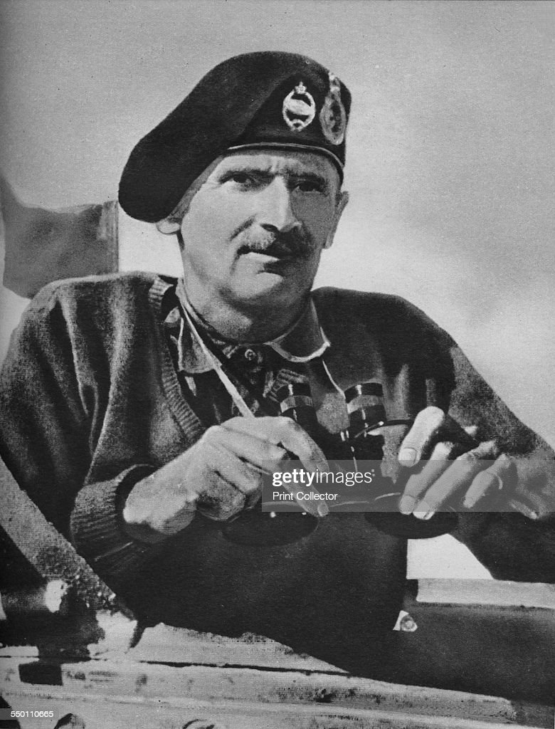 'The 8Th Army Commander Bernard Law Montgomery', 1942. Artists: Sir John Alexander Hammerton, Unknown. : News Photo