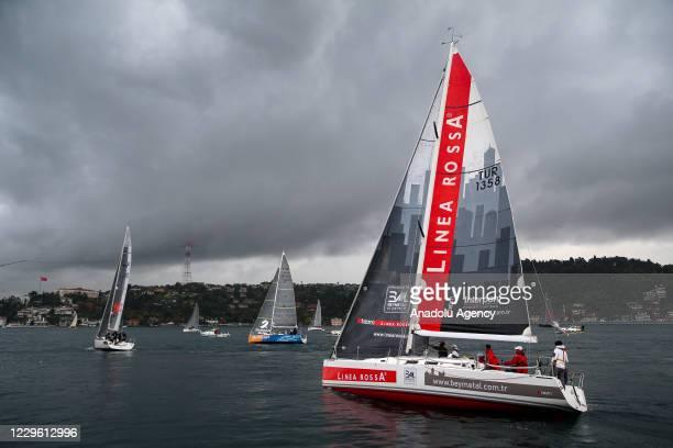 "The 8th ""BAU Bosphorus Sailing Cup"" race is held at the Bosphorus in Istanbul, Turkey on November 14, 2020."