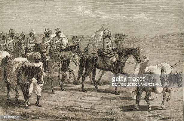 The 8th Bengal Cavalry on the march with baggage ponies Second AngloAfghan War illustration from the magazine The Graphic volume XIX no 475 January 4...