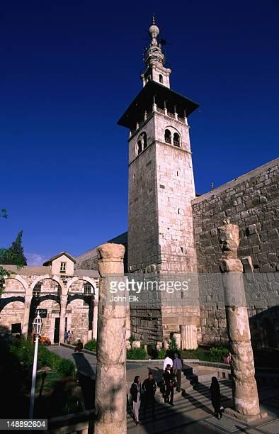 The 8th century Minaret of the Bride at Umayyad Mosque, Damascus.