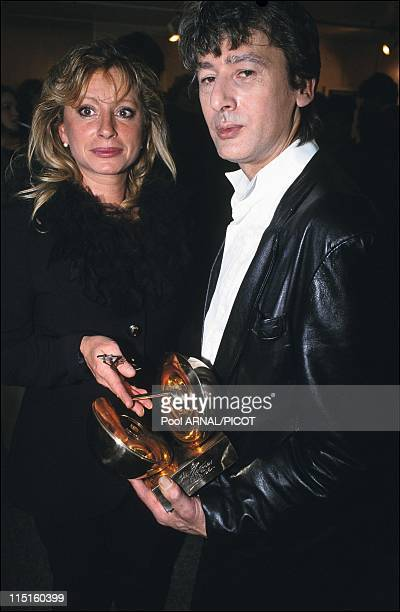 The 8th evening of the 'Victoires de la musique' in Paris France in January 1992 Veronique Sanson Artist Female Vocalist of the Year Alain Bashung...