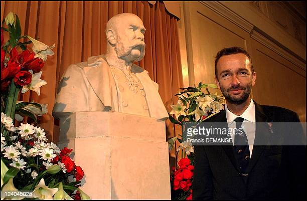 The 90th Birthday of Otto von Habsburg in Vienna, Austria on November 20, 2002 - At the Holfburg, heir to the throne Archduke Karl in front of the...