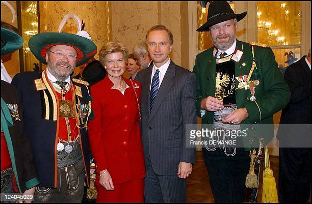 The 90th Birthday of Otto von Habsburg in Vienna Austria on November 20 2002 At the Holfburg Archduke Christian of Austria and wife MarieAstrid of...