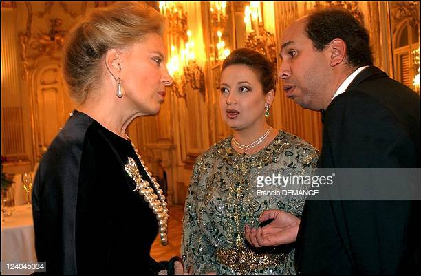 The 90th Birthday of Otto von Habsburg in Vienna Austria on November 20 2002 Princess MarieChristine of Kent with prince and princesse Moulay Abdullah