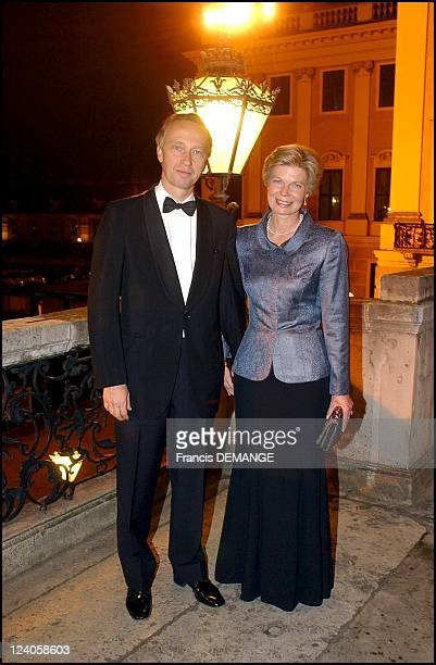 The 90th Birthday of Otto von Habsburg in Vienna Austria on November 20 2002 Christian of Austria and his wife MarieAstrid of Luxembourg