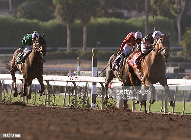 The 9th race at Santa Anita Park saturday The Santa Anita Handicap with a one million dollar purse won by Milwakee Brew riden by jocky Kent...