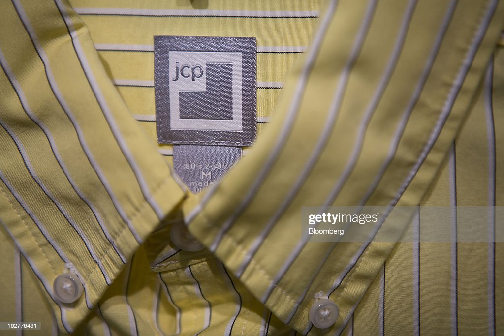 The a J.C. Penney Co. logo is seen on the label of a shirt for sale at a store in the Queens borough of New York, U.S., on Tuesday, Feb. 26, 2013. Confidence among U.S. consumers jumped more than forecast in February as Americans adjusted to a higher payroll tax and signs of a recovering housing market spurred faith in the future. J.C. Penney Co. is scheduled to release earnings data on Feb. 27. Photographer: Victor J. Blue/Bloomberg via Getty Images