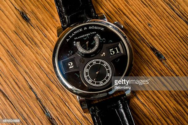 The A Lange Söhne Zeitwerk 'Phantom' watch belonging to Tony Fadell cofounder and chief executive officer of Nest Inc not pictured is arranged for a...