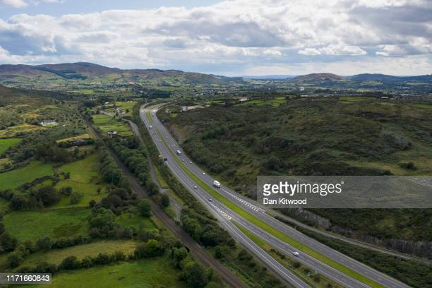The A1 leads South along the 'old Dublin Road' and the main railway line between Belfast and Dublin and across the border into Ireland on August 28...