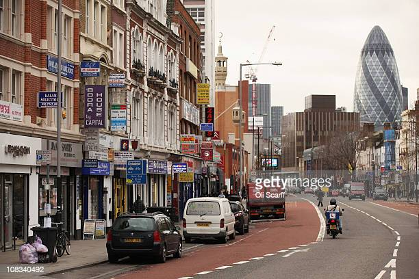 The A11 road in east London which was due to form part of the Olympic marathon route in 2012, however the race will now be staged entirely in central...